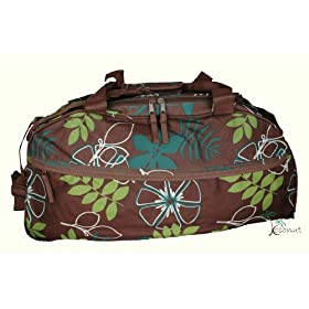 LARGE FLORAL SPORTS BAG IDEAL CABIN TRAVEL HOLDALL