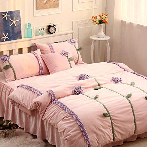 Sunshine Purple And Pink Duvet Cover Set Princess Bedding Girls Bedding Women Bedding Gift Idea, Queen Size