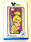 Disney D-tech World WDW Parks Authentic 2014 Tinkerbell Glitter Bling Wdw Iphone 5c Phone Hard Case & Screen Guard Cleaning Cloth