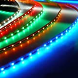 HitLights High Density LED Lighting Strip RGB Color Changing 300 SMD LED, 5 Meter or 16 Feet Kit, with 44 Key Remote And Transformer