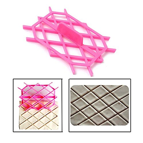 Diamond Rhombus Fondant Cake Cutter Embossing Mould Cake Tools (Quilt Fondant Mold compare prices)