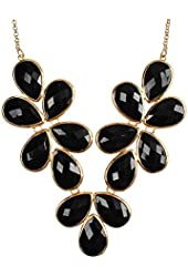 Jane Stone Bubble Bib Necklace Statement Necklace Chunky Necklace (Fn0621)
