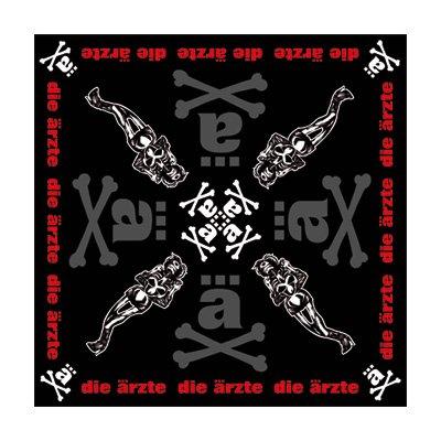 Die Ärzte - ä-Knochen Bandana / Kerchief (Kopftuch) schwarz (black)