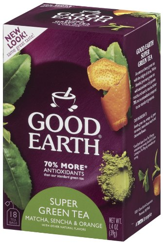Good Earth Super Green Tea, Matcha, Sencha and