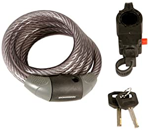 schwinn key cable bicycle lock 12mm x 5 foot cable bike loc. Black Bedroom Furniture Sets. Home Design Ideas