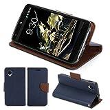 GMYLE(R) Google Nexus 5 専用PUレザー財布型スタンドケースカバー[ブルー & ブラウン]