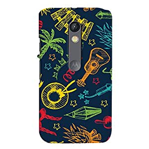ColourCrust Motorola Moto X Play Mobile Phone Back Cover With Holiday Pattern Style - Durable Matte Finish Hard Plastic Slim Case