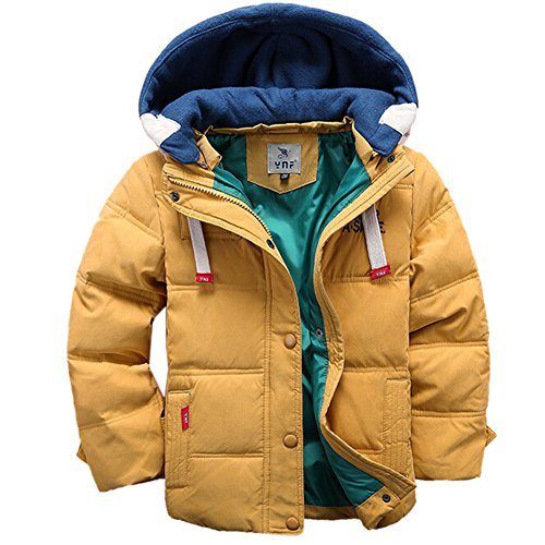 [Kinder Winterjacke mit Kapuze] Daunenjacke für Jungen Wintermantel Down Jacket Winter Jacket Wintermantel Mantel Parka Outerwear