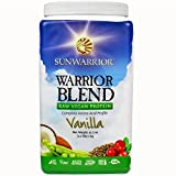 Sunwarrior Warrior Blend Raw Vegan Protein, Vanilla 2.2 lbs