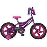 Mongoose Girl's Pizaaz 16-Inch Bicycle, Purple/Pink