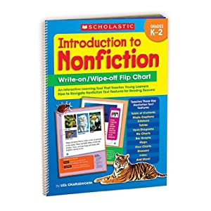 SCHOLASTIC TEACHING RESOURCES WIPE OFF FLIP CHART INTRODUCTION TO NONFICTION WRITE ON