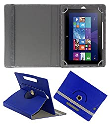 ACM ROTATING 360° LEATHER FLIP CASE FOR NOKIA LUMIA 2520 TABLET STAND COVER HOLDER DARK BLUE