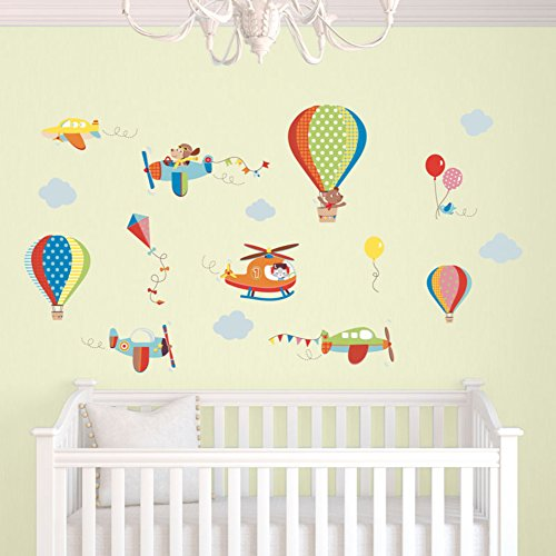 CherryCreek Decals High Flying Kids Room/Nursery Peel & Stick Wall Sticker Decals