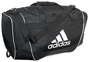 adidas Defender II Duffel Bag (Small), Black, 11.75 x 20.5 x 11-Inch