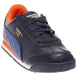 PUMA Roma Basic Kids Sneaker (Toddler/Little Kid/Big Kid) , Peacoat/Surf The Web, 10 M US Toddler