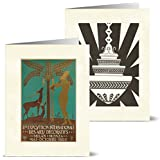 Vintage Art Deco - 36 Note Cards for $9.99 with 12 Different Images Including Tan Envelopes