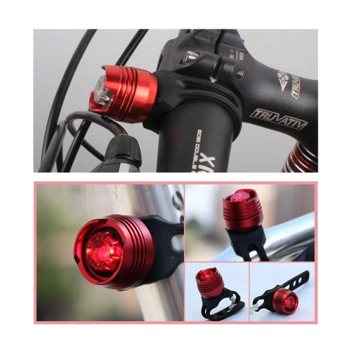 Tabstore Bike Bicycle Led Cycling Rear Tail Helmet Flash Light Lamp Red
