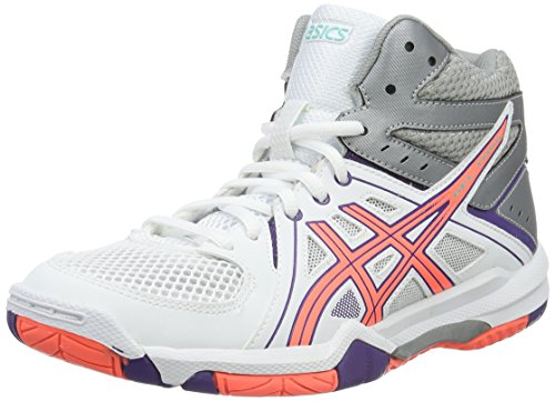 Asics Gel-Task MT, Scarpe da Pallavolo Donna, Multicolore (White/Flash Coral/Parachute Purple), 38 EU