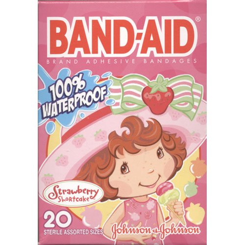 Band Aid Water Proof Adhesive Bandages, Strawberry