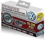 VW Golf MK3 Mac Audio-Haut-Parleurs DE PORTIERE AVANT fin Forme ajustée peu profonde pour voiture 200 W...