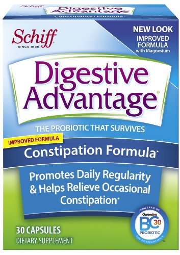 Digestive Advantage Constipation Formula Probiotics Supplement, 30 Count (Pack Of 2)