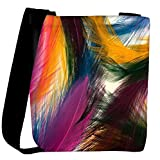 Snoogg Feather strokes Womens Carry Around Cross Body Tote Handbag Sling Bags