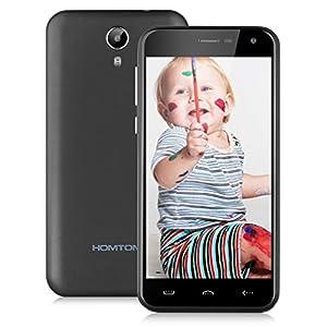 HOMTOM HT3 IPS 3G 5.0'' Smartphone Android 5.1 Lollipop MT6580A Quad Core 1.3GHz Mobile Phone Dual SIM 1GB RAM 8GB ROM Smart Wake GPS WIFI (HOMTOM HT3-Grey)