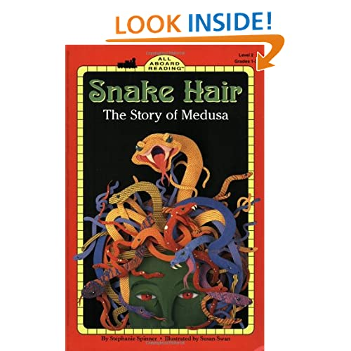 Snake Hair: The Story of Medusa (All Aboard Reading)