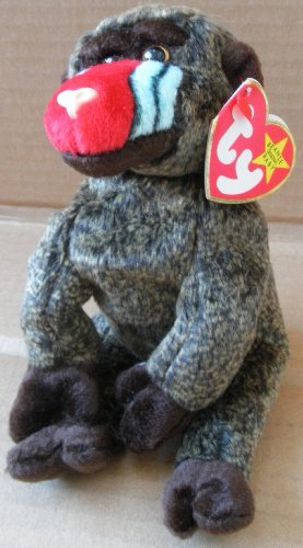 TY Beanie Babies Cheeks the Baboon Plush Toy Stuffed Animal by G72824794