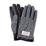 ハリスツイード スマホ手袋 手袋 メンズ レディース レザー グローブ / ヘリンボーン / グレー / S