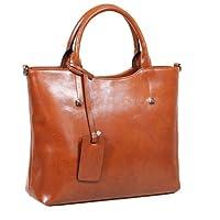 Fineplus Women's New Good Shape Studded Leather Nappy Handbag