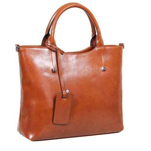 Fineplus Women's New Good Shape Studded Leather Nappy Handbag On Clearance Sale - 1