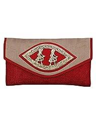 Craftstages Ethnic Designer Jute Sling Bag For Women (Material: Jute, Colour: Red) - B00VREYTKU