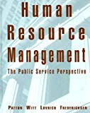 img - for Human Resource Management: The Public Service Perspective: 1st (First) Edition book / textbook / text book