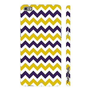 Micromax Canvas Sliver 5 Q450 CHEVRON YELLOW AND PURPLE designer mobile hard shell case by Enthopia