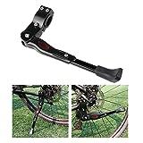 Foxnovo-Seitenstnder-Fahrrad-Stnder-Hinterbaustnder-Universal-Fahrradstnder-Aluminiun-Gummi-Schwarz