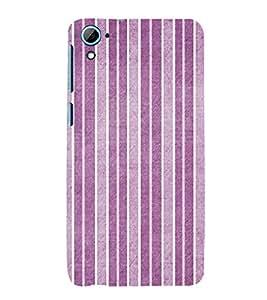 Purple Line Pattern 3D Hard Polycarbonate Designer Back Case Cover for HTC Desire 826::HTC Desire 826 Dual Sim::HTC Desire 826 DS (GSM + CDMA)
