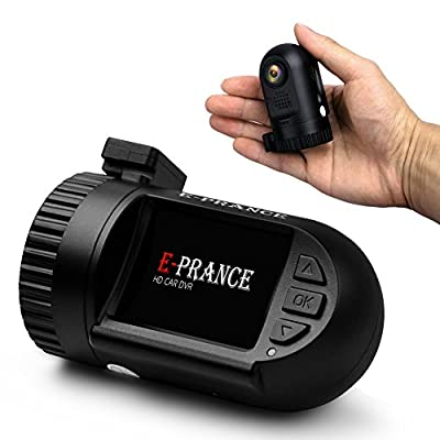 "E-PRANCE® HD 1296P Car DVR Dash Cam with Ambarella A7 Chip + 1.5"" LCD Screen + 135 Degree Wide Angle 6-glass Lens + 4.0 Mega Pixel OV4689 CMOS Sensor + SOS + WDR + HDR + LDWS + G-Sensor + Motion Detection from The Rear View Camera Center"