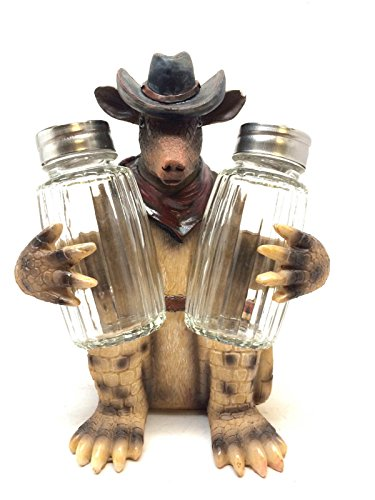 Cowboy Armadillo Salt and Pepper Set