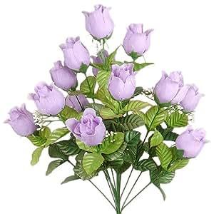 24 Beautiful Jumbo Silk Rose Flower Bush Wedding Bouquet
