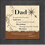 Dad Nautical Christian Saying and Scripture Jeremiah 17:7 Words of Gratitude, Encouragement and Appreciation Framed Gift with Built in Easel for Fathers Day or Birthday (Dark Walnut)
