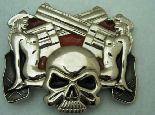 Skull Skeleton Mud Trucker Girls Cross Guns Belt Buckle Bikers Punk Gothic Men Women.