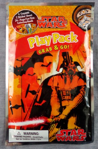 Star Wars Play Pack Grab & Go - Halloween 2013 - Crayons, Stickers and Coloring Book