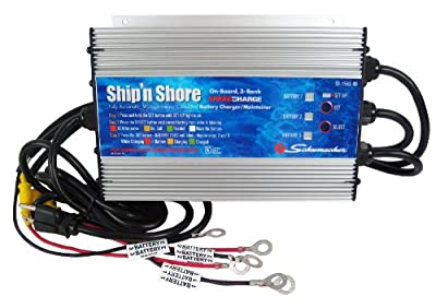 Schumacher SS-15A3-OB Ship 'N Shore 15 Amps 12V Automatic On-Board 3-Bank Charger