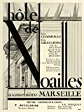 1931 Ad Hotel Noailles Marseille France Traveling Lodging Motel Europe Rooms - Original Print Ad