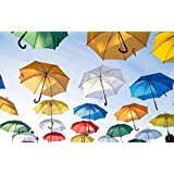 Tallenge Art For Kids Room Décor - Under My Umbrella - Small Size Rolled Canvas Art Print (8 Inches X12 Inches )