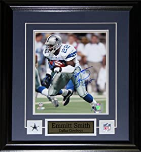 Emmit Smith Dallas Cowboys Signed 8x10 Frame by Midway Memorabilia