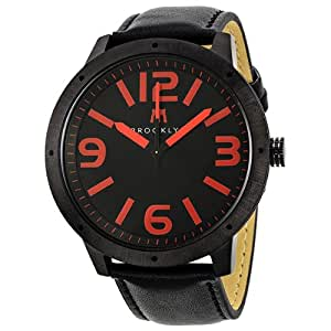 Brooklyn Watch Company De Kalb Black and Red Dial Mens Watch 1950BBR