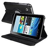 Shenit Multi Angle Stand Premium PU Leather Case Cover Folio for Samsung©Galaxy Tab 2 7.0 P3110/P3100 - Black