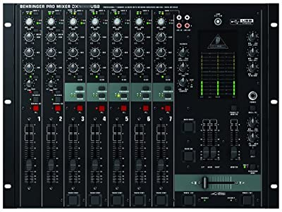 "Behringer DX2000USB Professional 7-Channel DJ Mixer with infinium ""Contact-Free"" VCA Crossfader, USB/Audio Interface and Massive Software Bundle by Behringer"